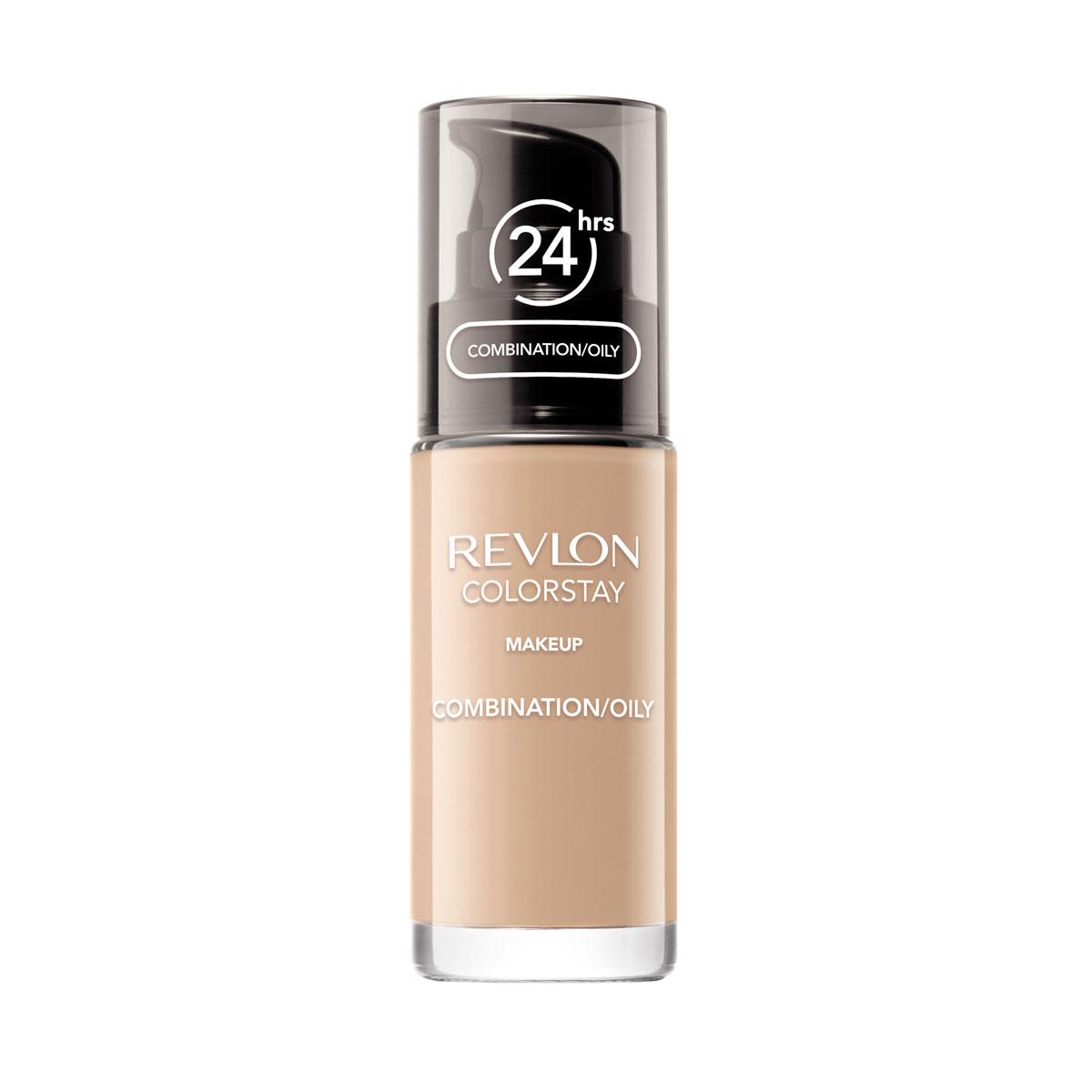 Revlon Тональный Крем для Комб-Жирн Кожи Colorstay Makeup For Combination-Oily Skin Buff 150 30 мл7221552002Colorstay - легендарная коллекция тональных средств, выбор ведущих визажистов во всем мире! Colorstay Make Up For Combination / Oily Skin - тональный крем с удивительно легкой текстурой идеально выравнивает тон и рельеф кожи, защищает от появления жирного блеска. Colorstay™ дарит коже приятную матовость, сохраняет макияж безупречным надолго - гарантированная стойкость в течение 24 часов! Предназначен для смешанной и жирной кожи.Наносите крем легкими разглаживающими движениями от центра к контурам с помощью кисти или пальцев, затем растушуйте на границе нанесения: у линии роста волос, в области шеи и ушей.