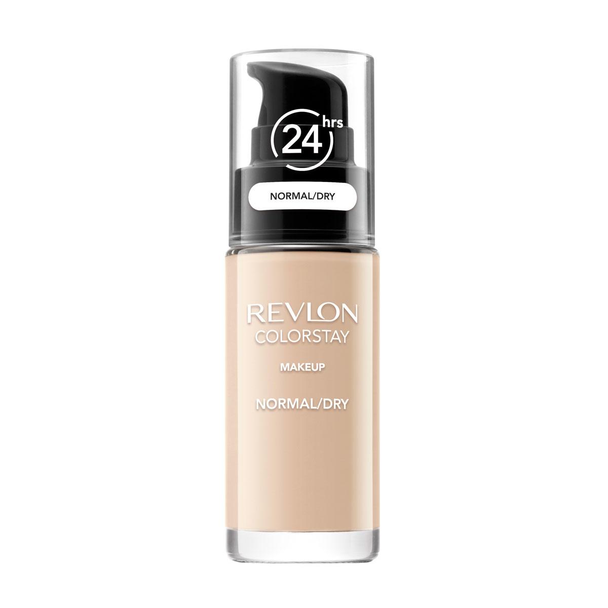Revlon Тональный Крем для Норм-Сух Кожи Colorstay Makeup For Normal-Dry Skin Sand beige 180 30 мл7221553003Colorstay - легендарная коллекция тональных средств, выбор ведущих визажистов во всем мире! Colorstay Make Up For Normal / Dry Skin - тональный крем с удивительно легкой текстурой идеально выравнивает тон и рельеф кожи, обеспечивая ей при этом должный уровень увлажнения. Colorstay™ дарит коже приятную матовость, сохраняет макияж безупречным надолго - гарантированная стойкость в течение 24 часов! Предназначен для сухой и нормальной кожи.Наносите крем легкими разглаживающими движениями от центра к контурам с помощью кисти или пальцев, затем растушуйте на границе нанесения: у линии роста волос, в области шеи и ушей.