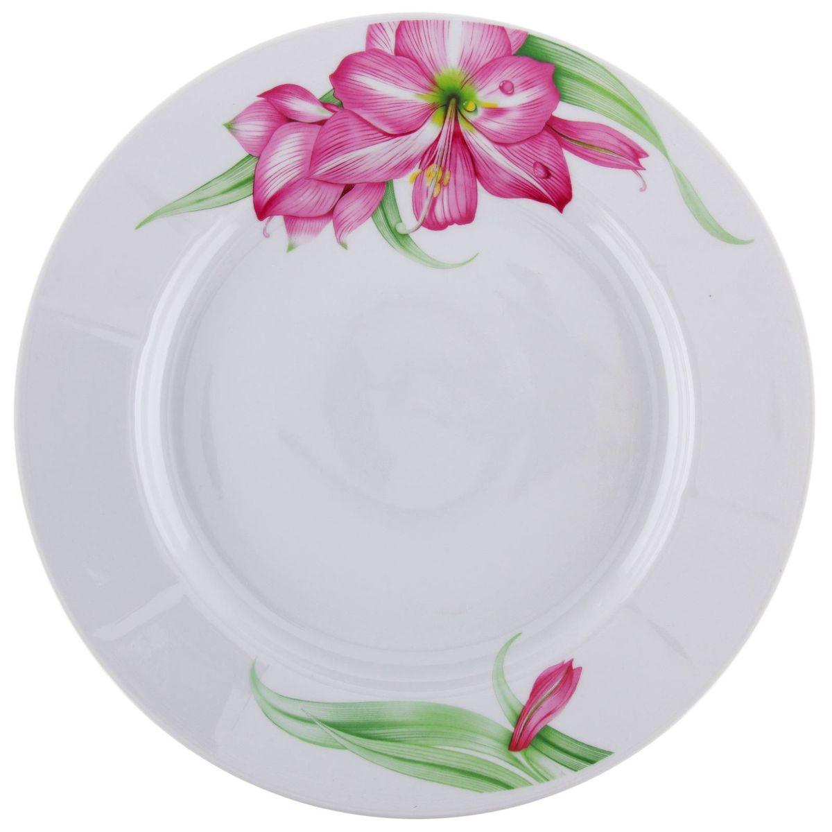 Тарелка мелкая Романс. Романтика, диаметр 24 см1332998Глубокая тарелка Романс. Романтика выполнена из высококачественного фарфора и украшена ярким изображением. Она прекрасно впишется в интерьер вашей кухни и станет достойным дополнением к кухонному инвентарю. Тарелка Романс. Романтика подчеркнет прекрасный вкус хозяйки и станет отличным подарком.