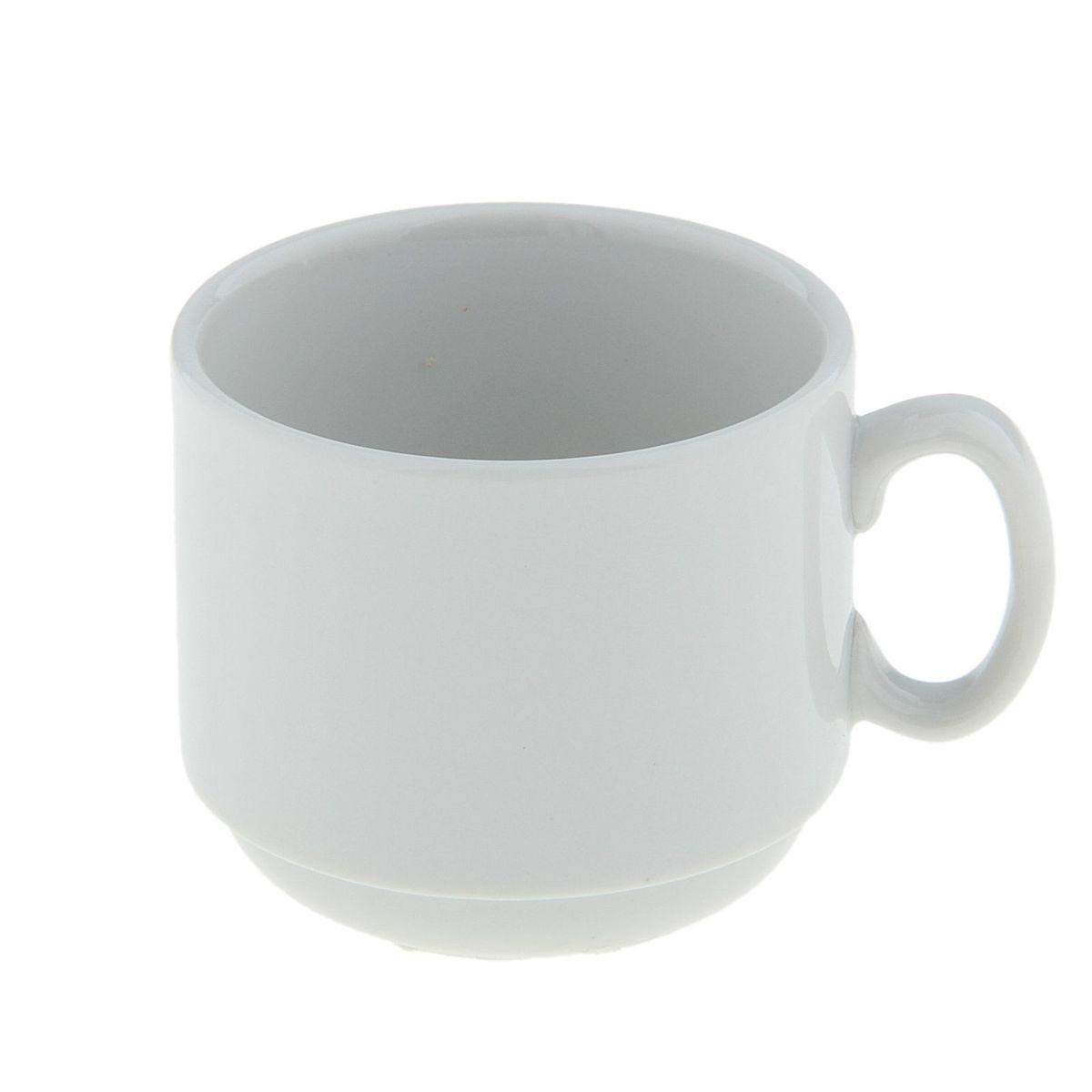 Чашка кофейная Мокко, 100 мл507797Чашка кофейная Мокко выполнена из высококачественного фарфора.Нежнейший дизайн и белоснежность изделия дарят ощущение легкости и безмятежности.