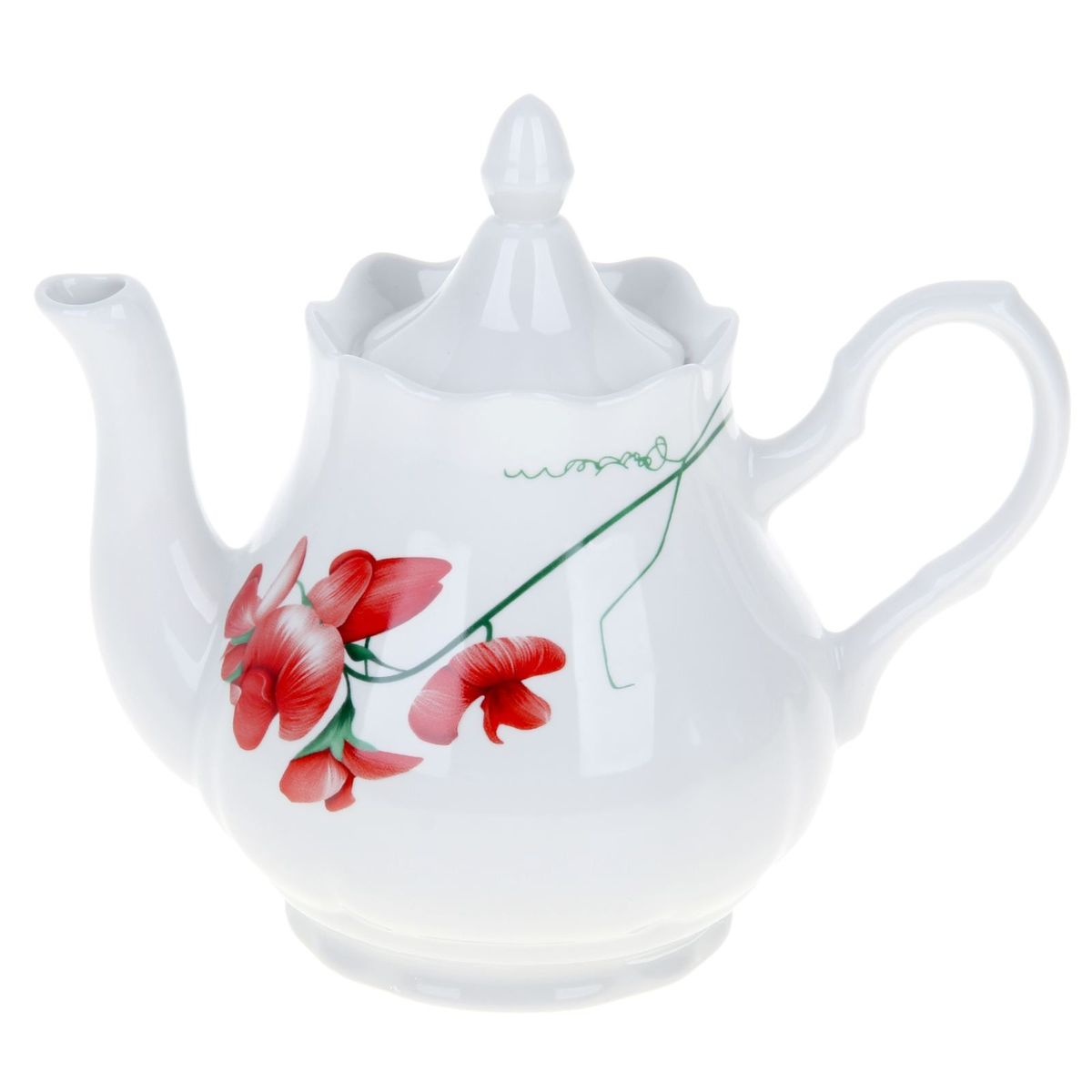 Чайник Добрушский фарфоровый завод Романс. Рубин, 1,75 л1224536Заварочный чайник Романс. Рубин выполнен из высококачественного фарфора и покрыт сверкающей глазурью. Изделие оснащено крышкой. Заварочный чайник Романс. Рубин придется по вкусу и ценителям классики, и тем, кто предпочитает современный стиль.