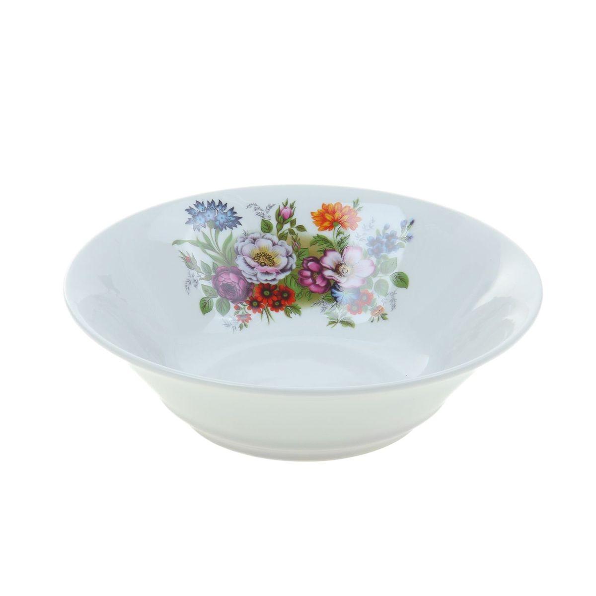 Салатник Идиллия. Букет цветов, 1,15 л1035444Элегантный салатник Идиллия. Букет цветов, изготовленный из высококачественного фарфора, имеет изысканный внешний вид. Он идеально подойдет для сервировки стола и станет отличным подарком к любому празднику.Диаметр салатника: 22 см.