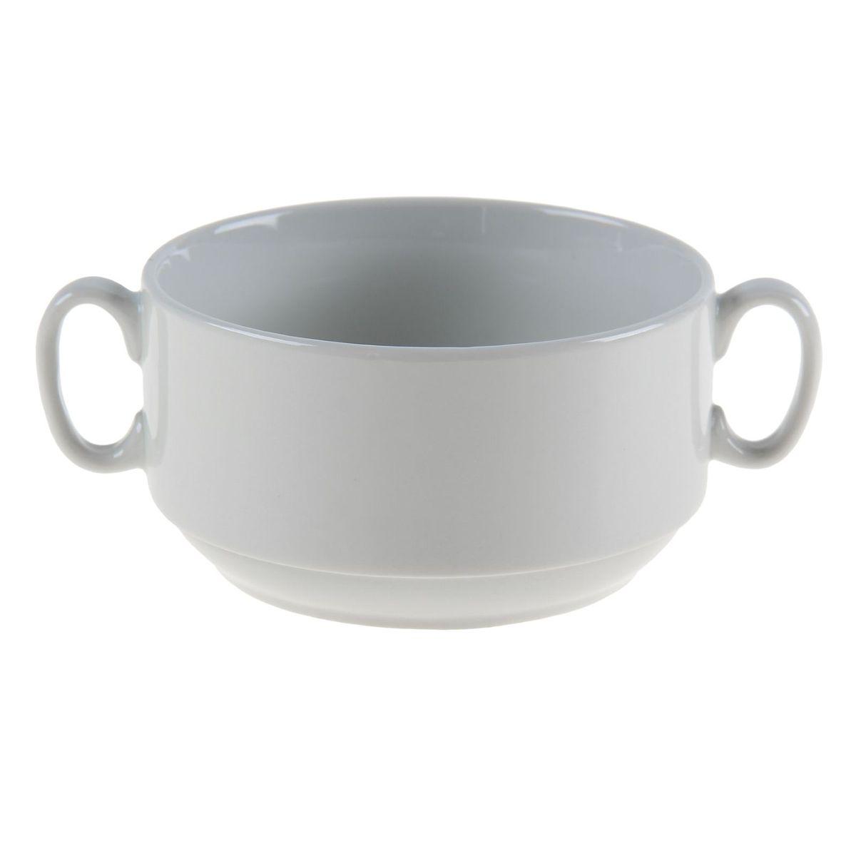 Бульонница Белье, 470 мл. 11095011109501Чашка Белье, изготовленная из высококачественного фарфора, предназначена для подачи супов и бульонов. Изделие оснащено 2 ручками для более удобного использования. Оригинальная чашка для бульона Белье украсит сервировку вашего стола и подчеркнет прекрасный вкус хозяина, а также станет отличным подарком.