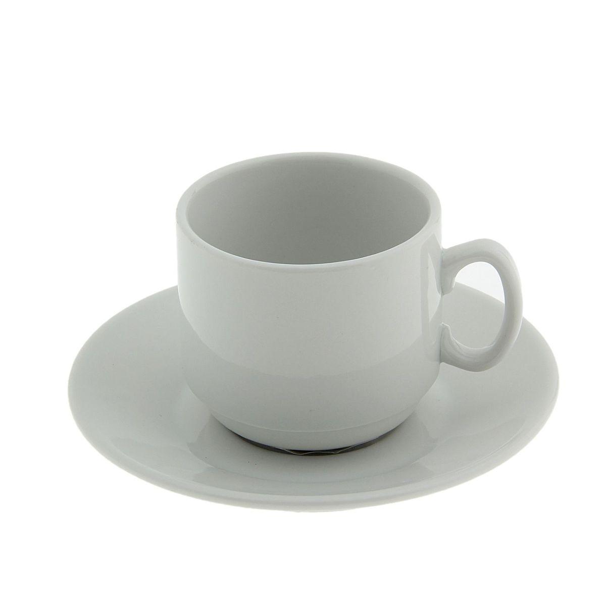 Кофейная пара Мокко. Белье, 2 предмета24478Кофейная пара Мокко. Белье изготовлен из фарфора высокого качества. Дизайн изделия снежно-белого цвета не содержит ничего лишнего. Лаконичный стиль делает предлагаемую модель удивительно элегантной.Объем чашки: 100 мл.