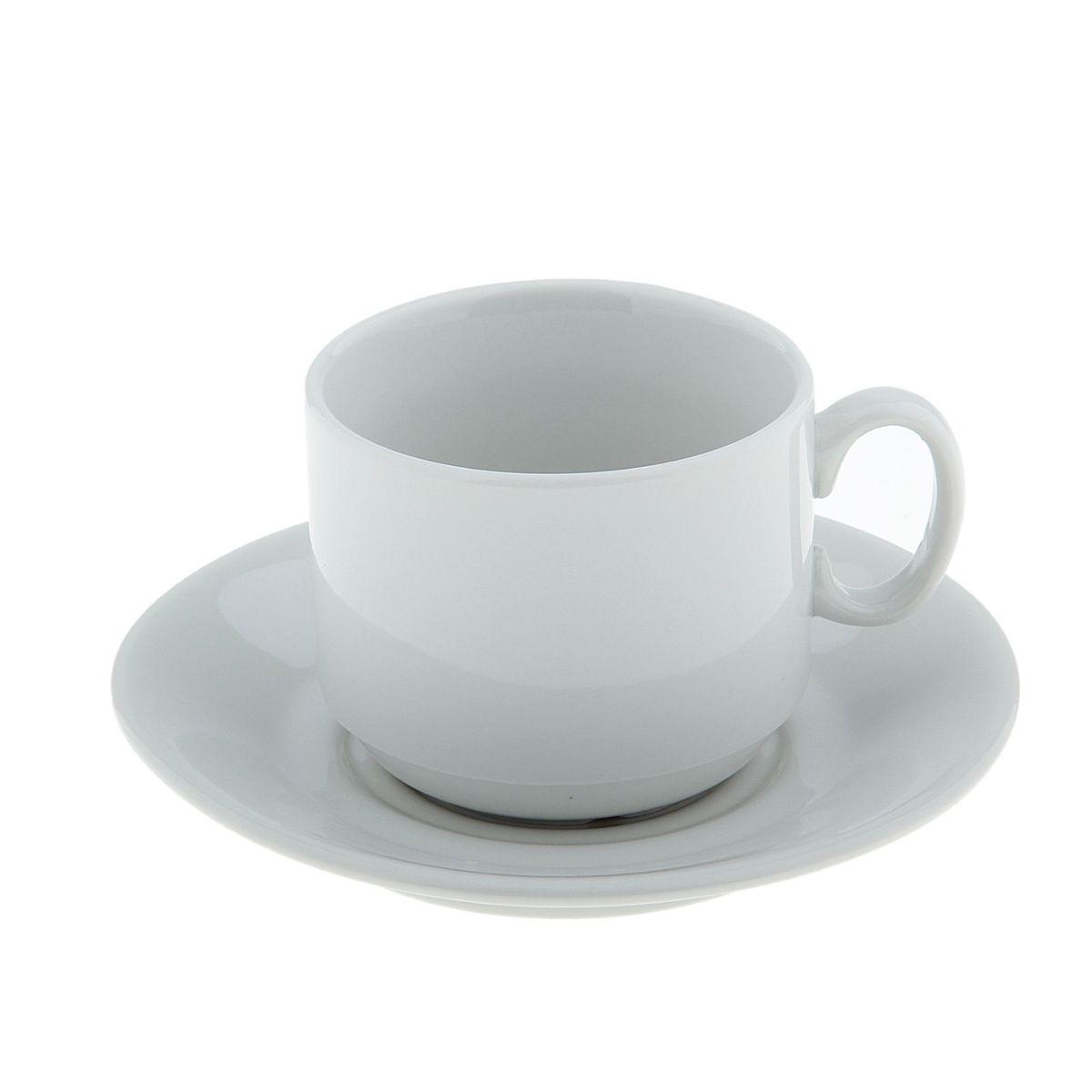 """Чайная пара """"Экспресс. Белье"""" состоит из чашки и блюдца, изготовленных из высококачественного фарфора. Оригинальный дизайн, несомненно, придется вам по вкусу. Чайная пара """"Экспресс. Белье"""" украсит ваш кухонный стол, а также станет замечательным подарком к любому празднику. Объем чашки: 220 мл."""