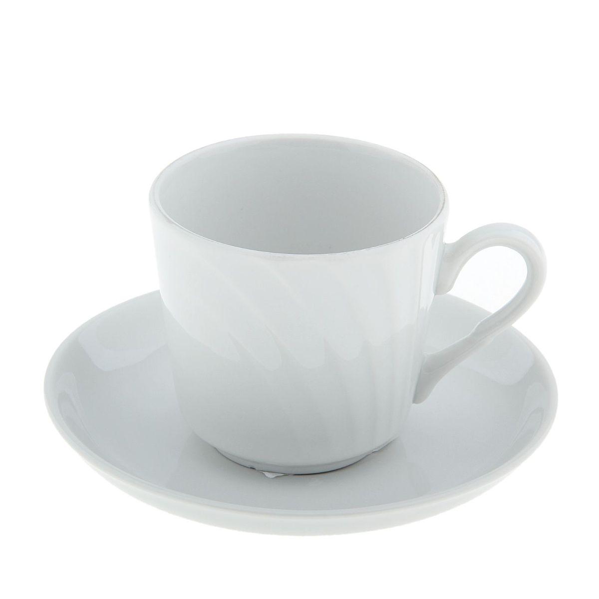 Чайная пара Голубка. Белье, 2 предмета507850Чайная пара Голубка. Белье состоит из чашки и блюдца, изготовленных из высококачественного фарфора. Оригинальный дизайн, несомненно, придется вам по вкусу.Чайная пара Голубка. Белье украсит ваш кухонный стол, а также станет замечательным подарком к любому празднику.Объем чашки: 220 мл.