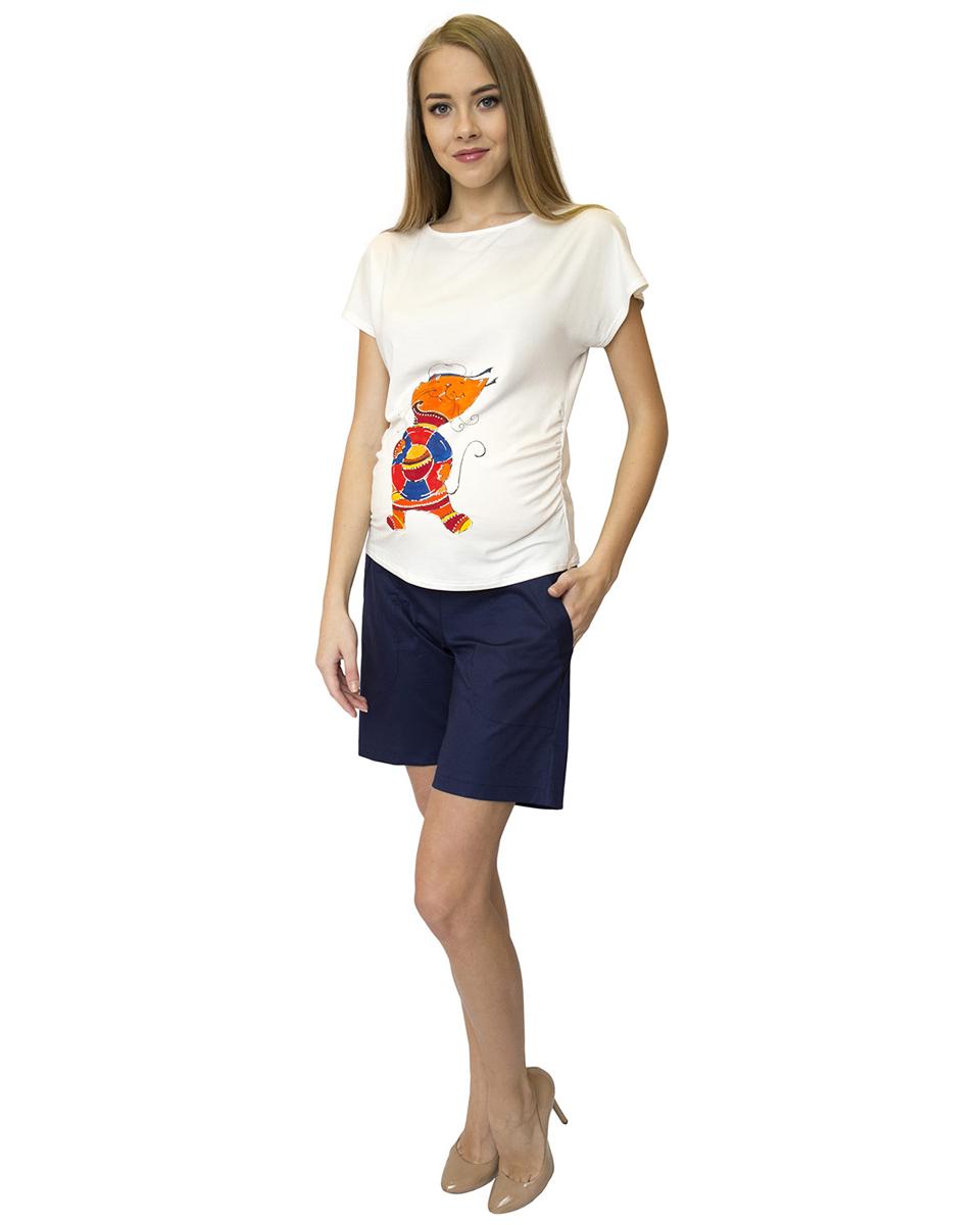 Шорты для беременных Фэст, цвет: темно-синий. 99516. Размер XS (42)99516Удобные шорты прямого силуэта выполнены из натуральной ткани. Эластичный пояс позволяет носить данную модель на любом сроке беременности. Фэст - одежда по вашей фигуре.