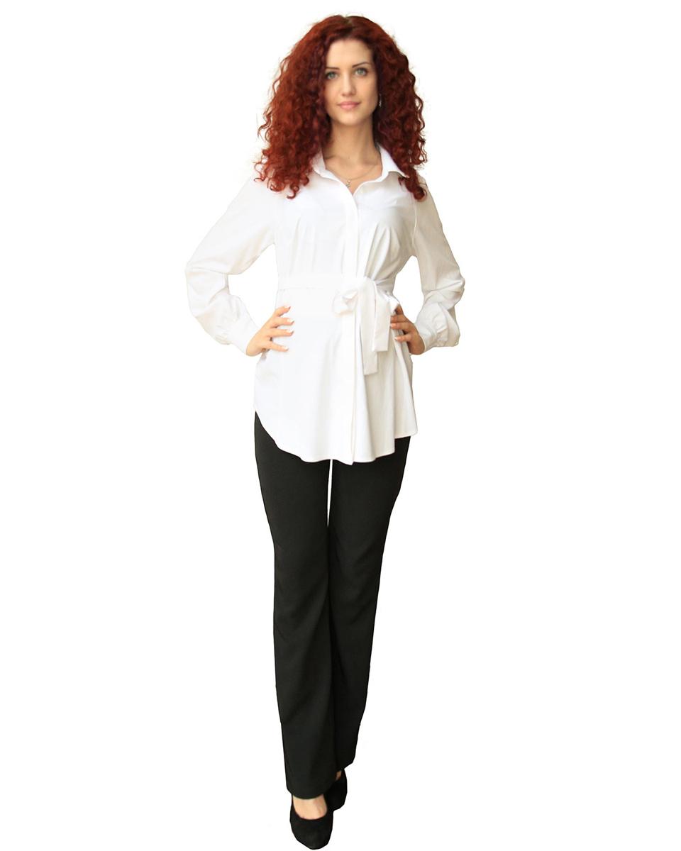 Блузка для беременных Фэст, цвет: белый. 183509Е. Размер XL (50)183509ЕКлассическая блузка изготовлена из мягкого натурального полотна. На полочке супатная застежка на петли и пуговицы. В боковых швах шлевки для завязывающегося пояса. Фэст - одежда по вашей фигуре.