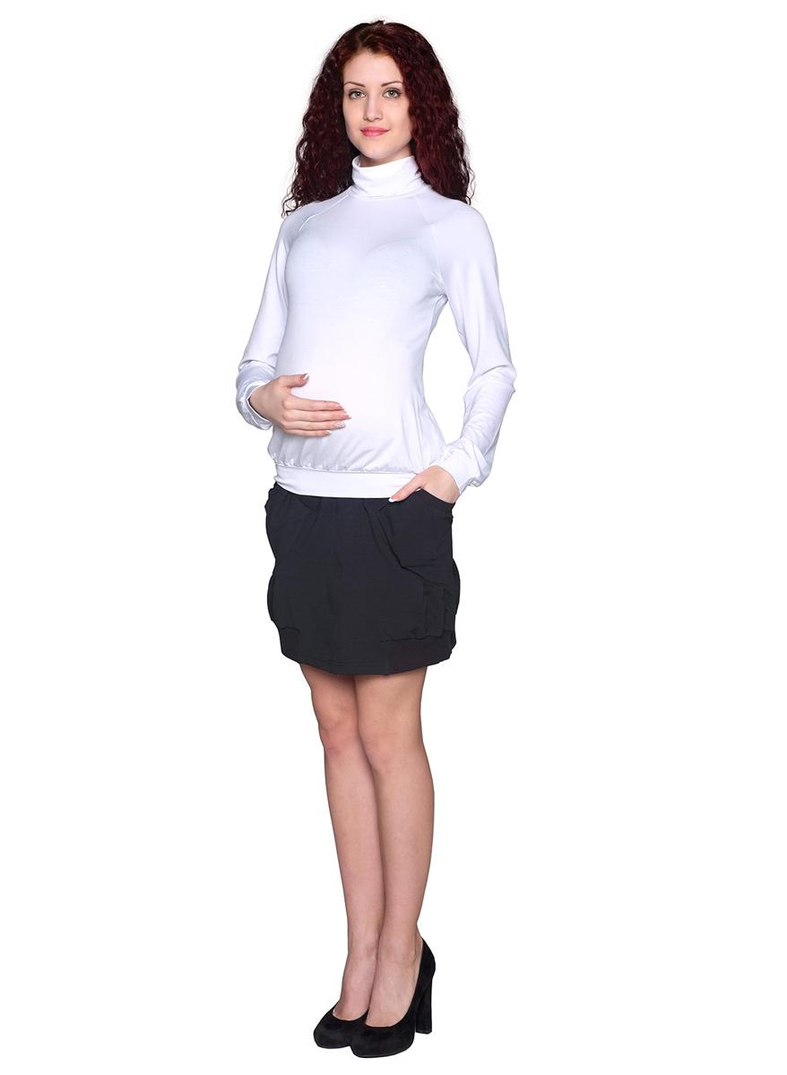 Водолазка для беременных Фэст, цвет: белый. 88509Е. Размер XL (50)88509ЕВодолазка с рукавом-реглан - базовая вещь для повседневного гардероба. В области талии мягкая сборка, обеспечивающая оптимальную посадку изделия на любом сроке беременности. Фэст - одежда по вашей фигуре.