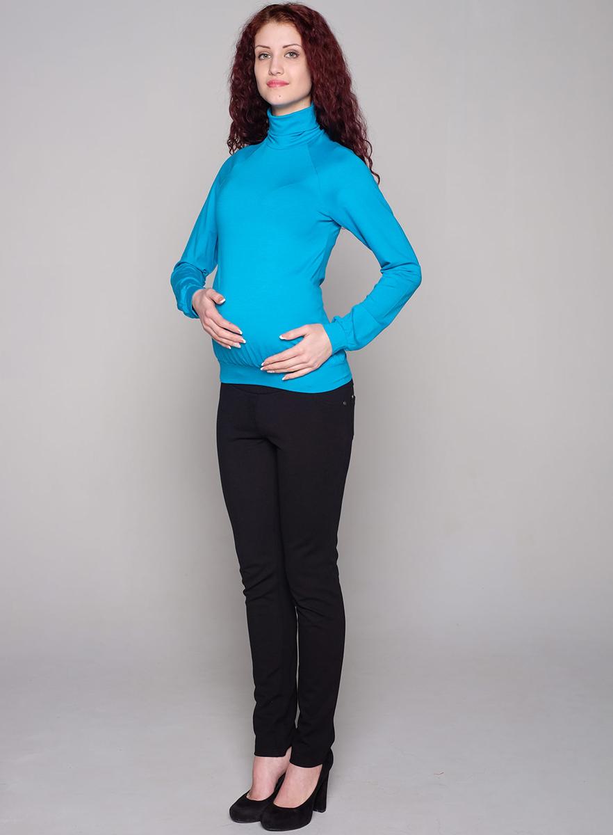 Водолазка для беременных Фэст, цвет: лазурный. 88509Е. Размер XL (50)88509ЕВодолазка с рукавом-реглан - базовая вещь для повседневного гардероба. В области талии мягкая сборка, обеспечивающая оптимальную посадку изделия на любом сроке беременности. Фэст - одежда по вашей фигуре.