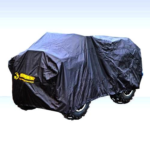 Чехол универсальный AG-brand, для квадроцикла ATV Stels GT/H/ Gepard, цвет: черныйAG-STS-ATV-Stels-SC-BL-240Чехол AG-brand, выполненный из влагоотталкивающей ткани, предназначен для уличного и гражного хранения квадрацикла ATV Stels GT/H/ Gepard. Защищает от пыли, грязи, дождя и снега. Имеет резинку по периметру для удержания чехла на квадроцикле.Чтобы любое транспортное средство служило долгие годы, необходимо не только соблюдать все правила его эксплуатации, но и правильно его хранить. Негативное влияние на состояние мототехники оказывают прямые солнечные лучи, влага, пыль, которые не только могут вызвать коррозию внешних металлических поверхностей, но и вывести из строя внутренние механизмы транспортных средств. Необходимо создать условия для снижения воздействия этих негативных факторов. Именно для этого и предназначены чехлы.