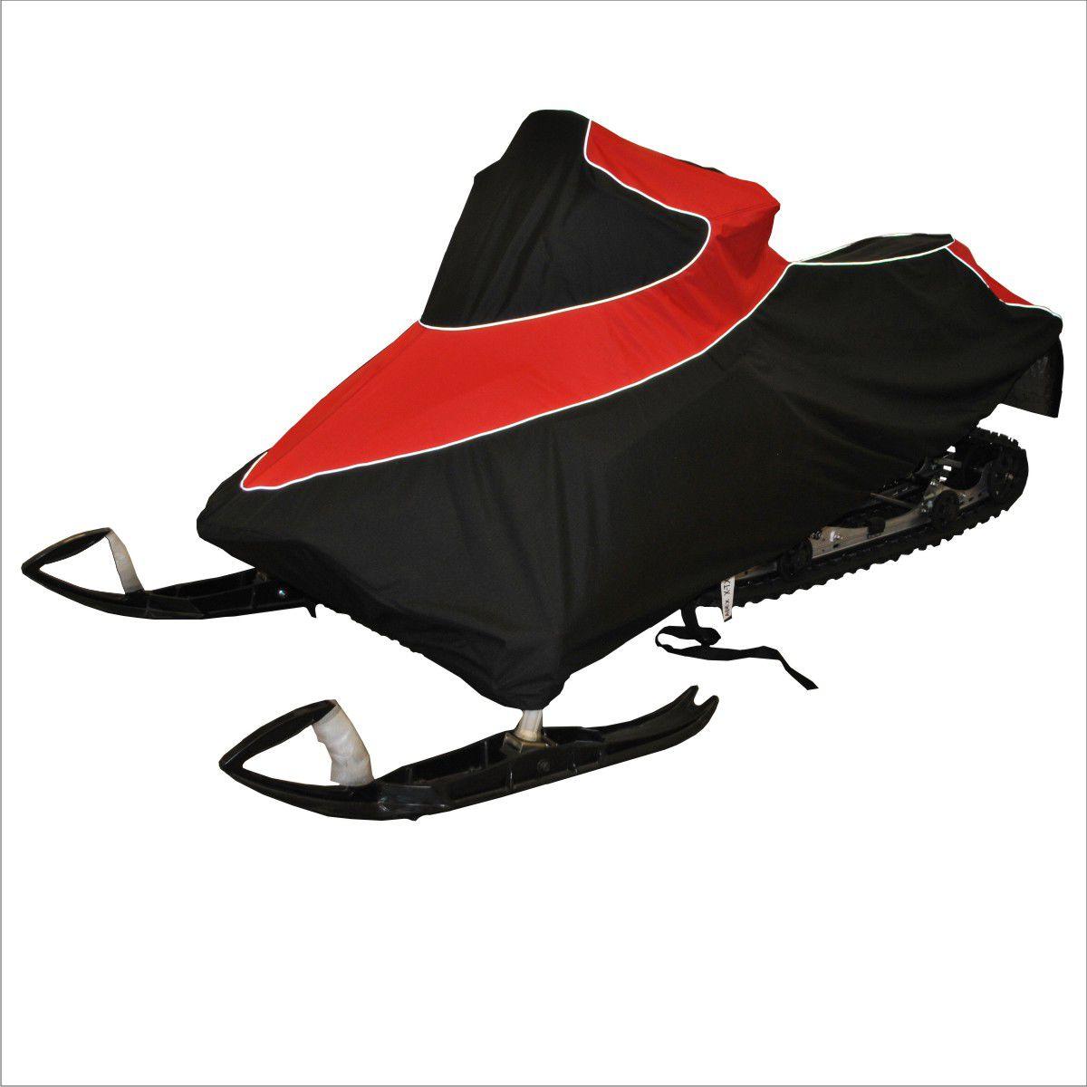 Чехол транспортировочный AG-brand для снегохода Yamaha Apex X-TX, цвет: черный, красныйAG-YAM-SMB-Apex-TCЧехол для транспортировки изготовлен из высокопрочной ткани с водоотталкивающей пропиткой. Чехол имеет светоотражающий кант для улучшения видимости в темноте. Резинки в передней и задней части чехла позволяют быстро и легко одеть чехол на технику. Чехол крепится к снегоходу в трех местах при помощи утягивающих строп (входят в комплект). Чехол закрывает снегоход вместе с амортизаторами и имеет клапана для выхода избыточного давления воздуха. На чехле установлена молния для быстрого доступа к заливной горловине бака.