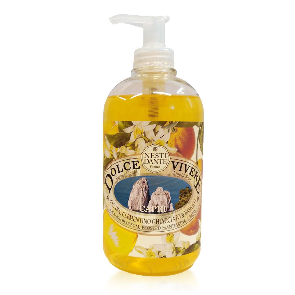 Nesti Dante Жидкое мыло Capri -Капри 500 мл5048106Жидкое мыло и гели Nesti Dante производится исключительно из растительных масел и содержит 100% оливковое масло.Содержащееся в продуктах оливковое масло известно как «эликсир молодости» благодаря высокой концентрацией витамина Е, который помогает бороться с образованием свободных радикалов, повинных в старении кожи