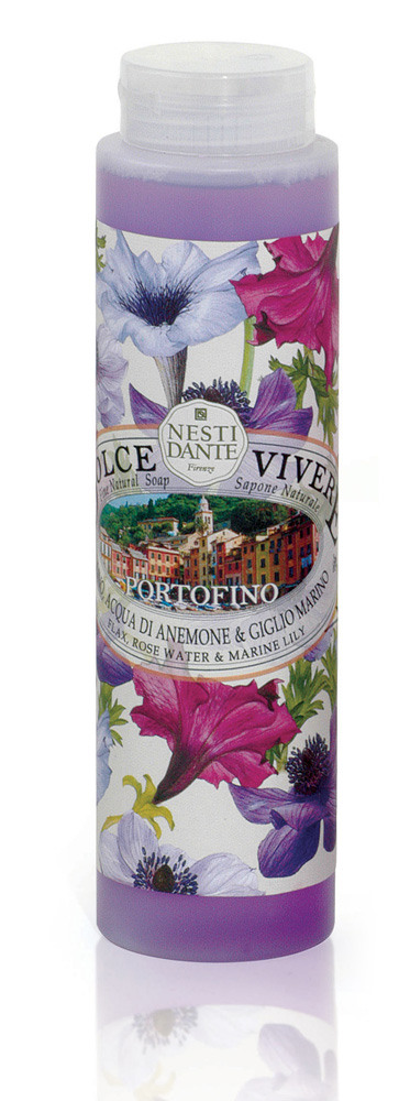 Nesti Dante Гель для душа Portofino, 300 мл5039112Гель для душа Portofino подарит вам ощущение роскоши и блаженства во время купания в ванной. Входящие в состав природные компоненты создадут умиротворенную, расслабляющую атмосферу.Гармония розовой воды и морской лилии в сочетании с экстрактами льна и розы успокаивают и питают чувствительную кожу.Товар сертифицирован.