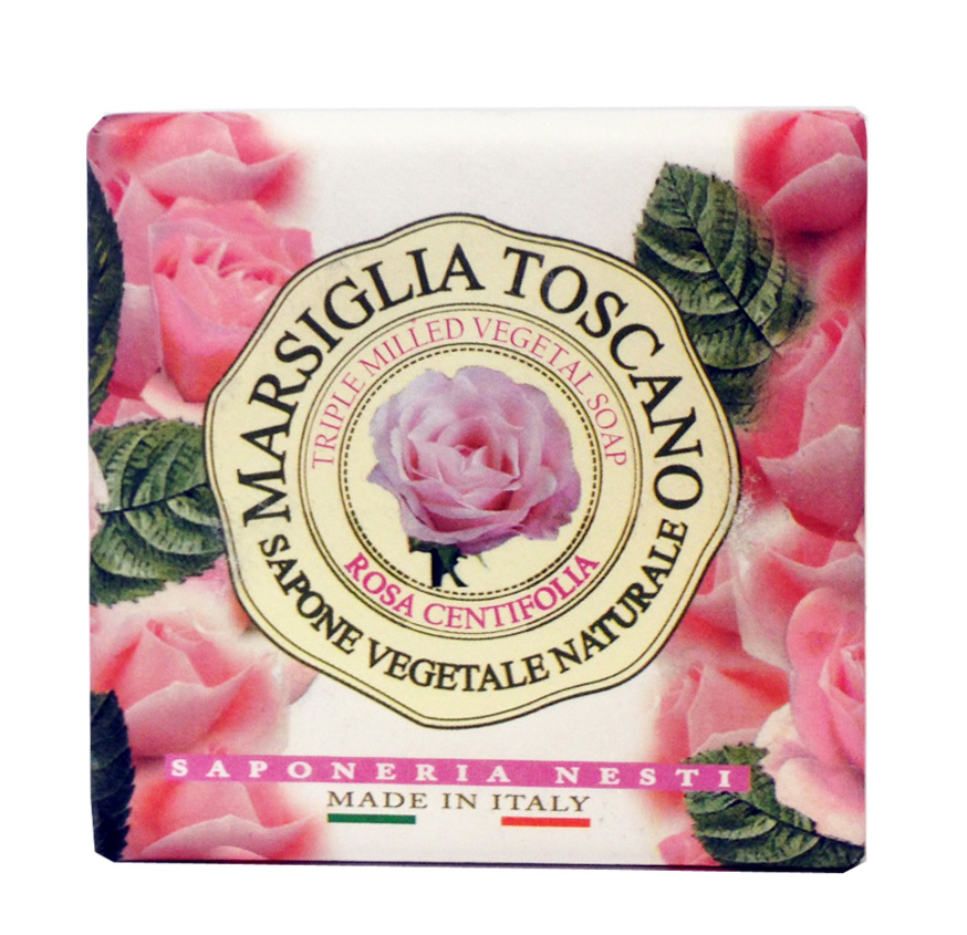 Nesti Dante Мыло Marsiglia Toscano. Роза Центифолия, 200 г1723106Великолепное растительное мыло премиум-класса Nesti Dante Marsiglia Toscano. Роза Центифолия изготовлено по старинным рецептам и по традиционной котловой технологии, в составе мыла только натуральные оливковое и пальмовое масло высочайшего качества, для ароматизации использованы органические эфирные масла. Ежедневный ритуал красоты, любви и заботы не только для тела, но и для души.Нежное растительное мыло, наполненное королевским ароматом розовых лепестков. Эффект: успокаивает и питает кожу. Изысканная флорентийская бумага, в которую завернуто мыло, расписана акварелью, на каждом кусочке мыла выгравирована надпись With Love And Care (С любовью и заботой). Товар сертифицирован.