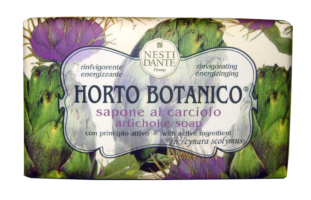 Nesti Dante Мыло Horto Botanico. Артишок, 250 г1731206Великолепное растительное мыло премиум-класса Nesti Dante Horto Botanico. Артишок изготовлено по старинным рецептам и по традиционной котловой технологии, в составе мыла только натуральные оливковое и пальмовое масло высочайшего качества, для ароматизации использованы органические эфирные масла. Экстракт артишока оздоравливает и бодрит, мыло прекрасно заботится о коже, хорошо мылится и очищает загрязнения. Благодаря содержанию натуральных компонентов, кожа становится нежной, увлажненной и упругой. Изысканная флорентийская бумага, в которую завернуто мыло, расписана акварелью, на каждом кусочке мыла выгравирована надпись With Love And Care (С любовью и заботой).Товар сертифицирован.