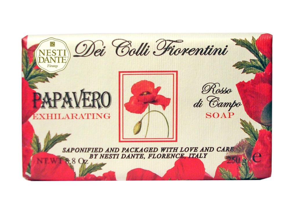 Nesti Dante Мыло Dei Colli Fiorentini. Мак, 250 г1752106Великолепное растительное мыло премиум-класса Nesti Dante Dei Colli Fiorentini. Мак изготовлено по старинным рецептам и по традиционной котловой технологии, в составе мыла только натуральные оливковое и пальмовое масло высочайшего качества, для ароматизации использованы органические эфирные масла. Ежедневный ритуал красоты, любви и заботы не только для тела, но и для души.Мыло Dei Colli Fiorentini. Мак - путешествие в мир ароматов сквозь цветущие флорентийские холмы - для хорошего самочувствия и бодрости духа, возбуждающий аромат. Изысканная флорентийская бумага, в которую завернуто мыло, расписана акварелью, на каждом кусочке мыла выгравирована надпись With Love And Care (С любовью и заботой). Товар сертифицирован.