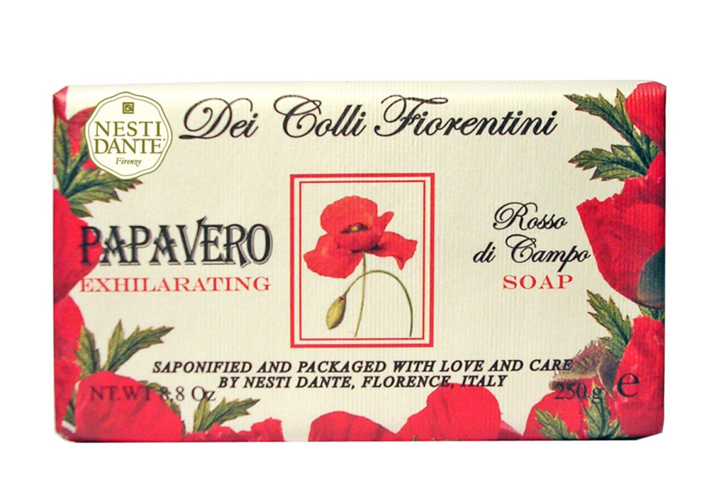 Nesti Dante Мыло Dei Colli Fiorentini. Мак, 250 г nesti dante мыло дрок dei colli fiorentini 250 гр мыло дрок dei colli fiorentini 250 гр 250 гр