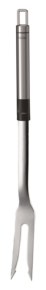 Вилка для мяса Leifheit Proline, длина 37 см03029Вилка для мяса Leifheit Proline изготовлена из высококачественной нержавеющей стали и оснащена удобной эргономичной ручкой. Ручка снабжена специальным отверстием для подвешивания. Это прекрасное функциональное изделие прекрасно подойдет для разделывания мясных блюд.Практичная и удобная вилка для мяса Leifheit Proline займет достойное место среди аксессуаров на вашей кухне.Можно мыть в посудомоечной машине.Длина вилки: 37 см.