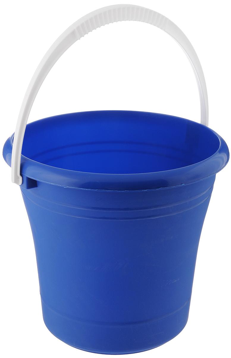 Ведро Альтернатива, цвет: синий, 10 лМ007_синийВедро Альтернатива изготовлено из высококачественного пластика. Оно легче железного и не подвержено коррозии. Для удобства использования ведро оснащено пластиковой ручкой. Ведро предназначено для бытовых нужд.Диаметр ведра: 27 см.Высота стенок: 27 см.