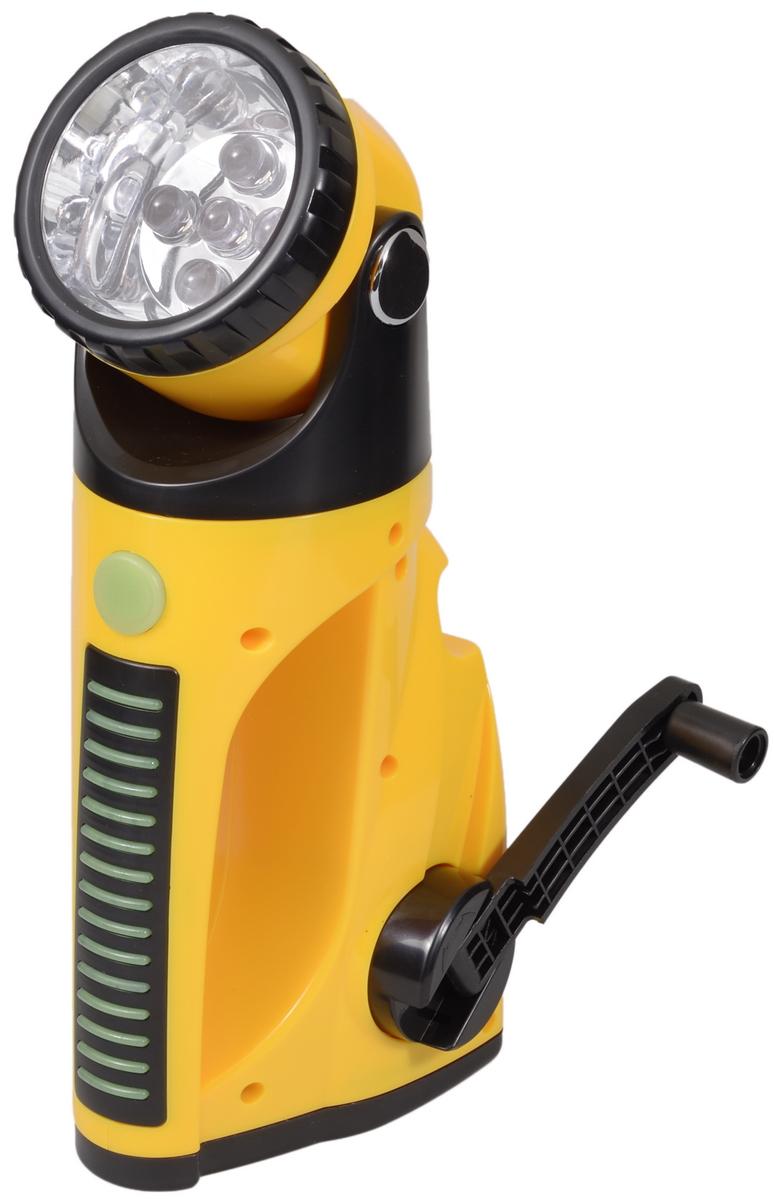 Фонарь ручной FOCUSray. FR-482Фонарь Focusray FR-482Компактный аккумуляторный фонарь FOCUSray оснащен пятью светодиодами и встроенным электродинамическим зарядным устройством. Фонарь компактный, удобный, экономичный, обладает высокими техническими и потребительскими характеристиками фонарь. Он просто незаменим на рыбалке, охоте, туристическом походе, так как для его работы не требуются батарейки. С этим фонарем вы всегда будете со светом. Свечение до 15 минут после вращения ручки в течении 1 минуты. До 6 часов свечения после 4 часов зарядки от автомобильной электросети. Фонарь имеет 2 режима свечения: экономичный (3 диода) и яркий (5 диодов).Дальность свечения: 20 м.