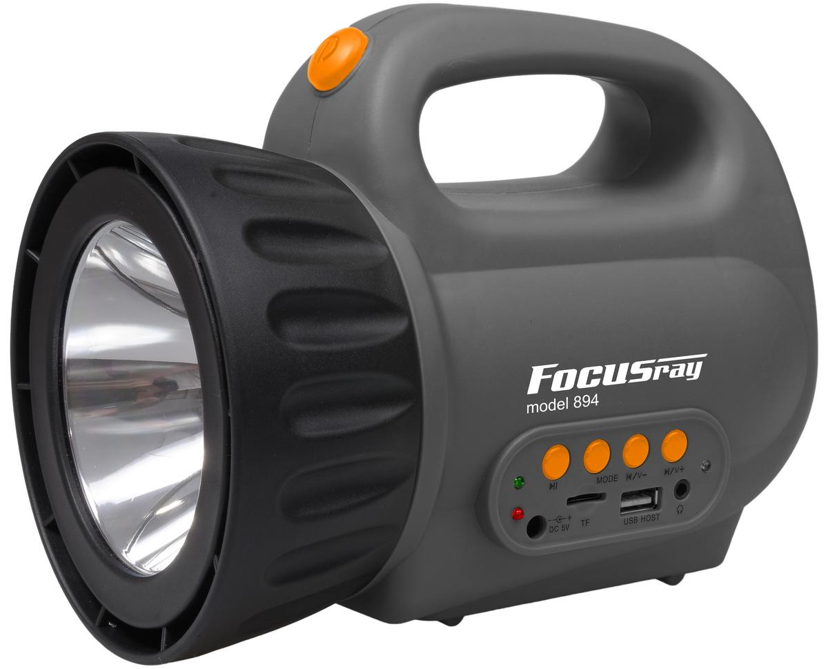 Фонарь кемпинговый Focusray. FR-894Фонарь Focusray FR-894Источник света-3 светодиода с увеличительными линзами. Дальность освещения до 110 метров. Источник питания-2 батарейки АА. Батарейками не комплектуется. Корпус прорезиненный. Ремешок для ношения. Упаковка-блистер.