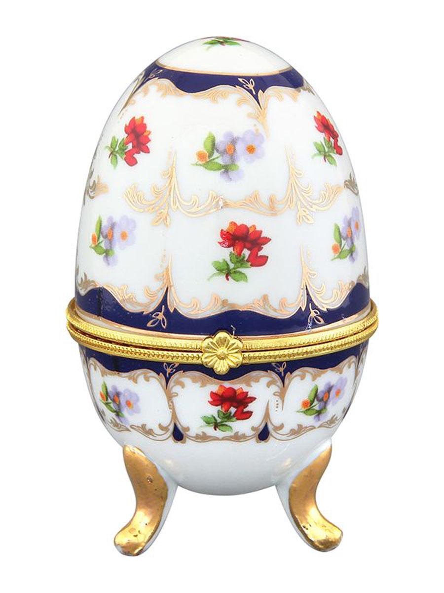 Шкатулка Elan Gallery Цветочек, высота 10 см503408Оригинальная шкатулка, выполненная из керамики, идеально подходит для хранения мелких украшений. Размер: 6 х 6 х 10 см.