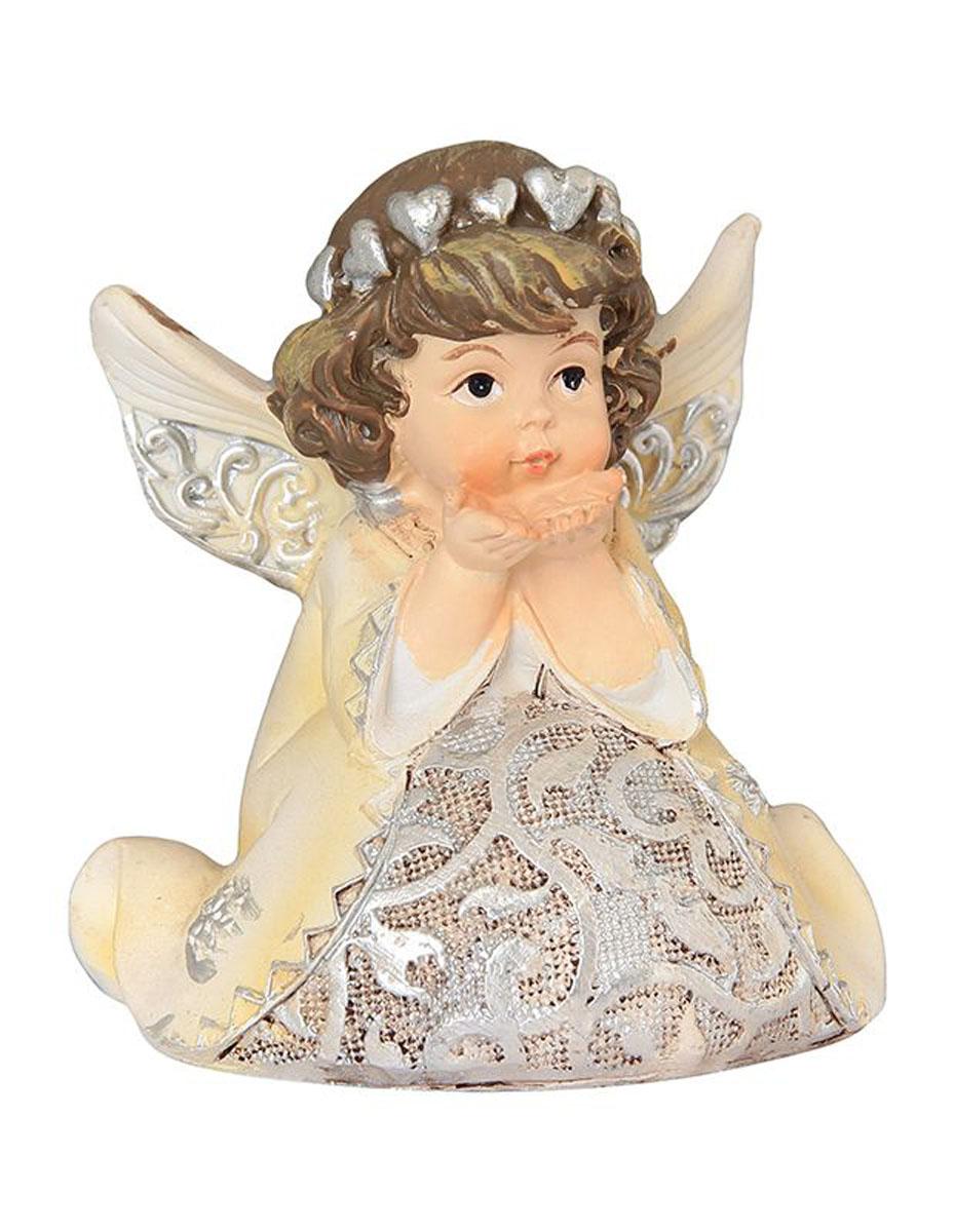 """Декоративная фигурка Elan Gallery """"Ангел с сердечками"""", изготовленная из полистоуна, станет необычным аксессуаром для вашего интерьера. Эта очаровательная вещица станет отличным подарком вашим друзьям и близким.  Размер фигурки: 7,5 х 5 х 8 см."""