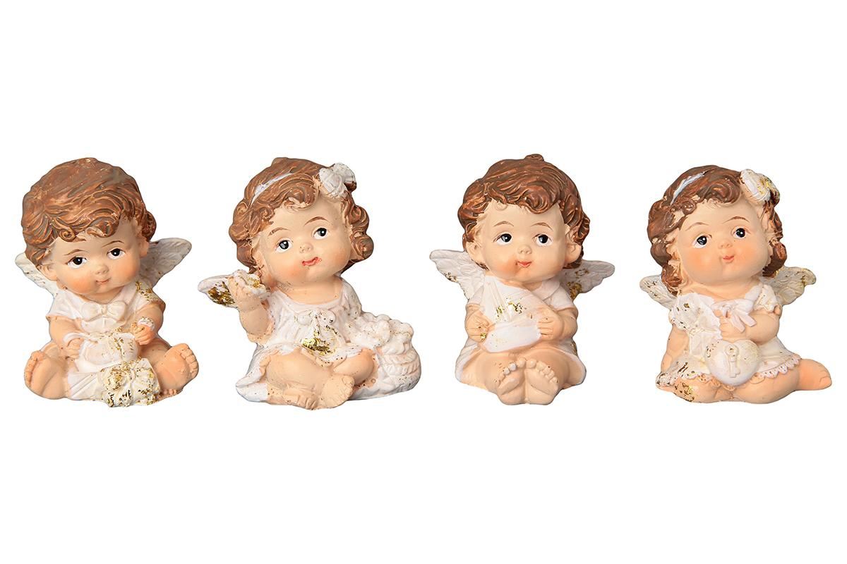 Фигурка декоративная Elan Gallery Ангелочки, высота 5 см, 4 предмета670118Декоративные фигурки - это отличный способ разнообразить внутреннее убранство вашего дома. Декоративная фигурка с изображением ангелов станет прекрасным сувениром, который вызовет улыбку и поднимет настроение.Фигурка выполнена из полистоуна.Комплектация: 4 статуэтки.