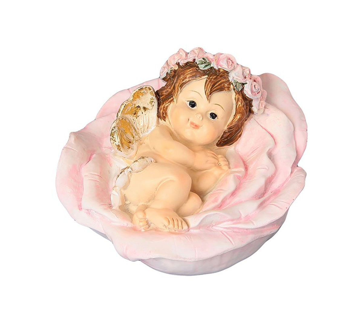 Фигурка декоративная Elan Gallery Ангелочек в цветке, высота 6 см фигурки elan gallery фигурка декоративная ангелочек в цветке
