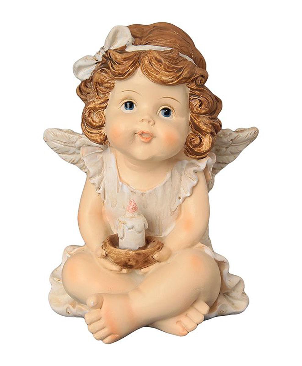 Фигурка декоративная Elan Gallery Ангелочек со свечкой, высота 11 см670139Декоративные фигурки - это отличный способ разнообразить внутреннее убранство вашего дома. Декоративная фигурка с изображением ангелочка станет прекрасным сувениром, который вызовет улыбку и поднимет настроение.Фигурка выполнена из полистоуна.