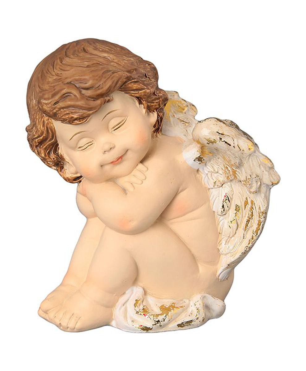 Фигурка декоративная Elan Gallery Ангелочек спящий, высота 10 см фигурки elan gallery фигурка декоративная дочки матери