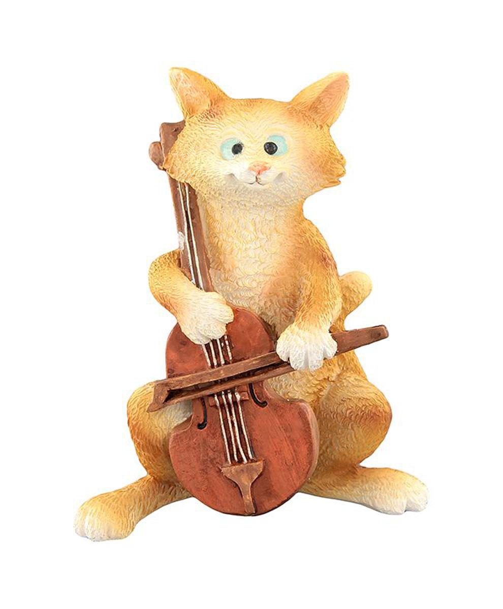Фигурка декоративная Elan Gallery Кот с виолончелью, высота 9 см фигурки elan gallery фигурка декоративная кот с виолончелью