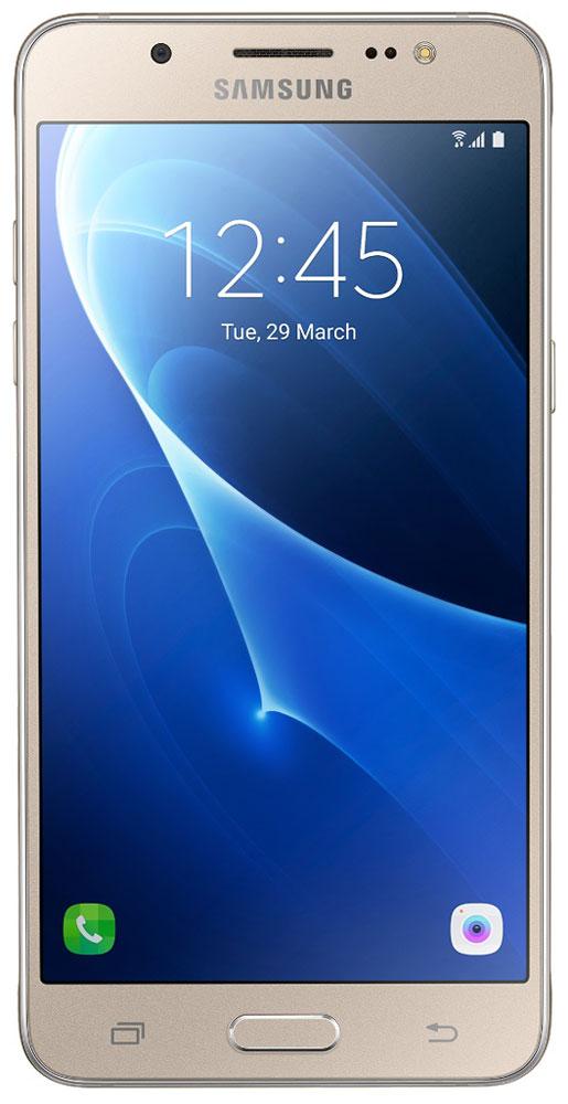 Samsung SM-J510FN Galaxy J5 (2016), GoldSM-J510FZDUSERSamsung SM-J510FN Galaxy J5 отличается элегантным и стильным дизайном, который усиливает впечатление от смартфона.При толщине 7,9 мм и ширине 72 мм, смартфон Samsung Galaxy J5 выглядит более чем изящно, а приятная на ощупь текстура корпуса подчеркивает элегантность формы и ощущение комфорта при использовании смартфона.Аккумулятор с емкостью 3100 мАч позволит оставаться на связи дольше обычного. При отсутствии возможности подзарядки используйте режим максимального энергосбережения.Мощный 4-ядерный процессор Qualcomm MSM8916 и 2 ГБ оперативной памяти обеспечивают мгновенную реакцию смартфона на любые ваши действия.Удобное приложение Smart ManageПростой способ управления основными функциями смартфона: уровень заряда аккумулятора, доступный объем памяти, состояние использования оперативной памяти и безопасность смартфона.Телефон сертифицирован Ростест и имеет русифицированный интерфейс меню, а также Руководство пользователя.