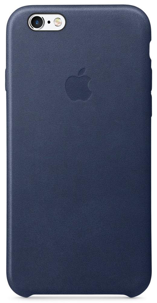 Apple Leather Case чехол для iPhone 6/6s, Midnight BlueMKXU2ZM/AРоскошные чехлы из специально обработанной и выделанной кожи европейского производства продуманы теми же дизайнерами Apple, которые работали над iPhone. Каждый чехол идеально облегает телефон, поэтому ваш iPhone 6s или iPhone 6 по-прежнему будет выглядеть невероятно тонким. Мягкая внутренняя поверхность чехла, выполненная из микроволокна, защитит корпус вашего смартфона. А внешняя сторона порадует вас насыщенным оттенком: благодаря специальной технологии краситель проникает глубоко в структуру кожи.