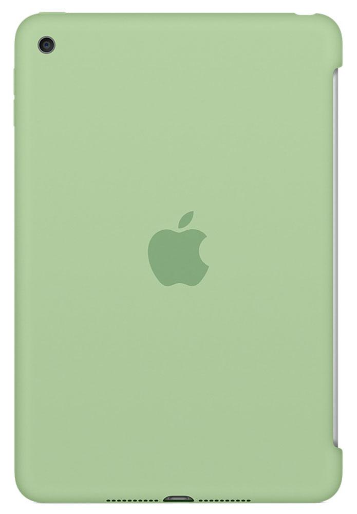 Apple Silicone Case чехол для iPad mini 4, MintMMJY2ZM/AСиликоновый чехол защищает заднюю поверхность iPad mini 4 и идеально совместим со Smart Cover, чтобы ваше устройство было в безопасности с обеих сторон. Чехол с гладкой силиконовой поверхностью очень приятен на ощупь и надёжно оберегает iPad mini 4, сохраняя его корпус таким же тонким и изящным.