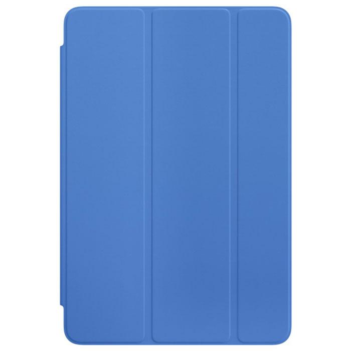 Apple Smart Cover чехол для iPad mini 4, Royal BlueMM2U2ZM/AОбложка Apple Smart Cover для iPad mini 4 создана из цельного листа полиуретана, чтобы защищать переднюю панель вашего устройства. Smart Cover автоматически выводит iPad из режима сна при открытии и переводит в режим сна при закрытии. Она складывается различными способами, что позволяет использовать её как подставку для чтения, просмотра фильмов, набора текста или звонков FaceTime. Обложка снимается и надевается очень легко, в любой момент.