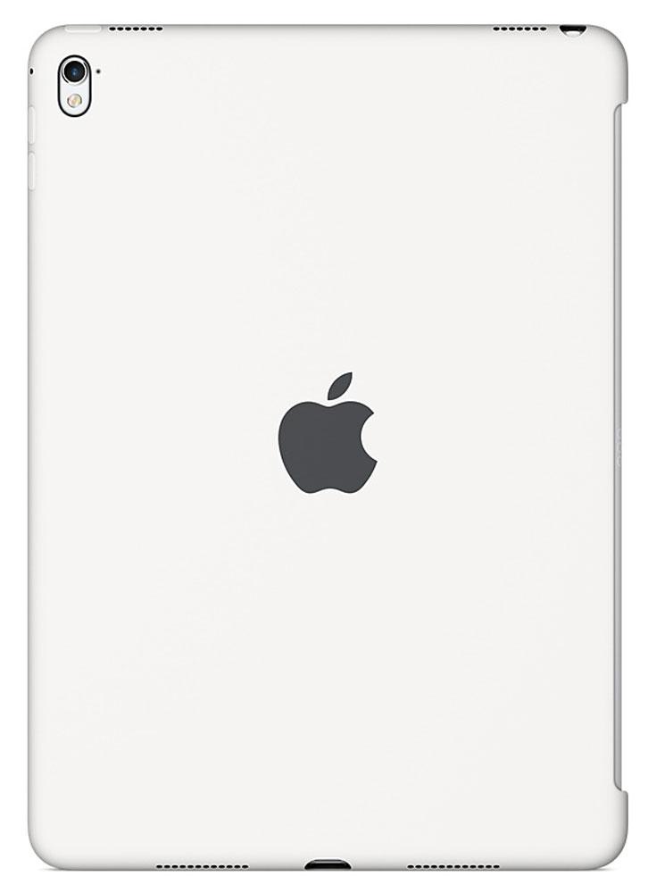 Apple Silicone Case чехол для iPad Pro 9.7, WhiteMM202ZM/AСиликоновый чехол от Apple закрывает заднюю поверхность вашего iPad Pro и плотно прилегает к кнопкам, не делая его толще. Мягкая внутренняя поверхность из микроволокна защищает устройство, а гладкий силикон очень приятен на ощупь. Чехол идеально совместим с новой клавиатурой Smart Keyboard и обложкой Smart Cover. Ваш iPad Pro защищён со всех сторон.