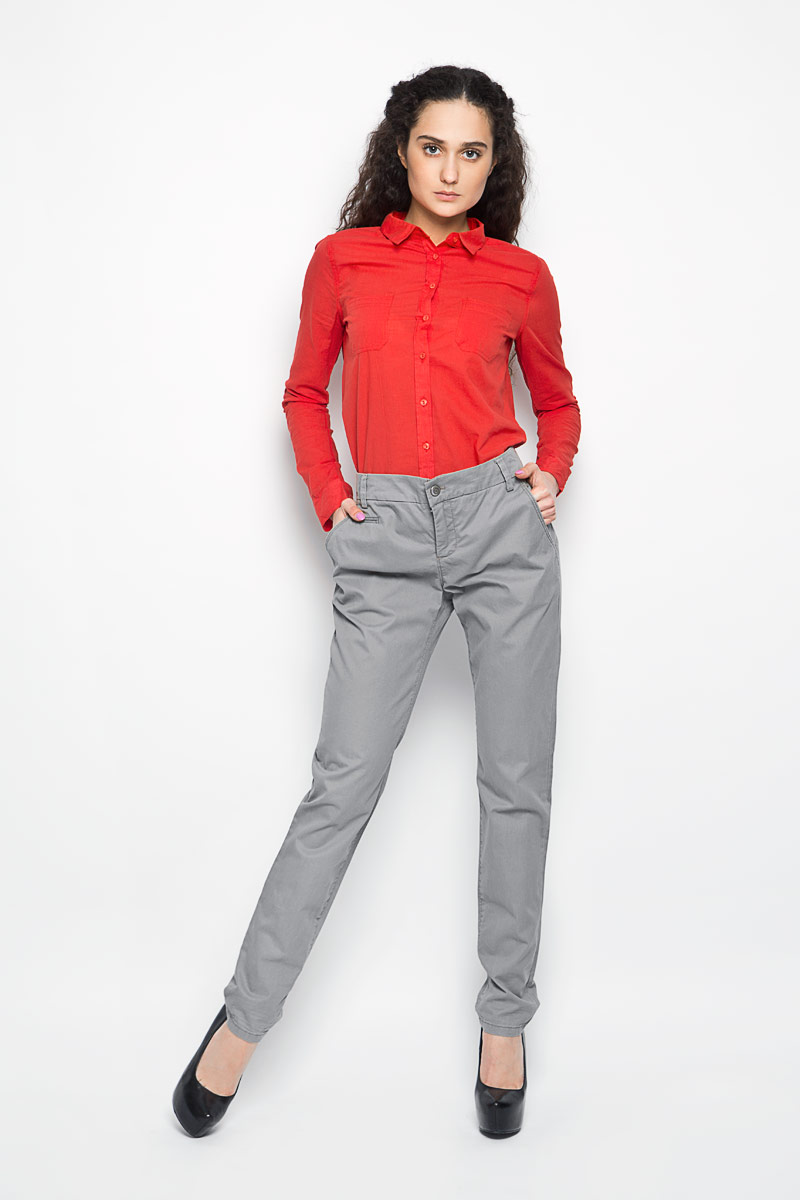 Брюки женские Marc O`Polo, цвет: светло-серый. 47110061. Размер 36 (40) куртка мужская marc o polo цвет черный 020670162 985 размер xl 54