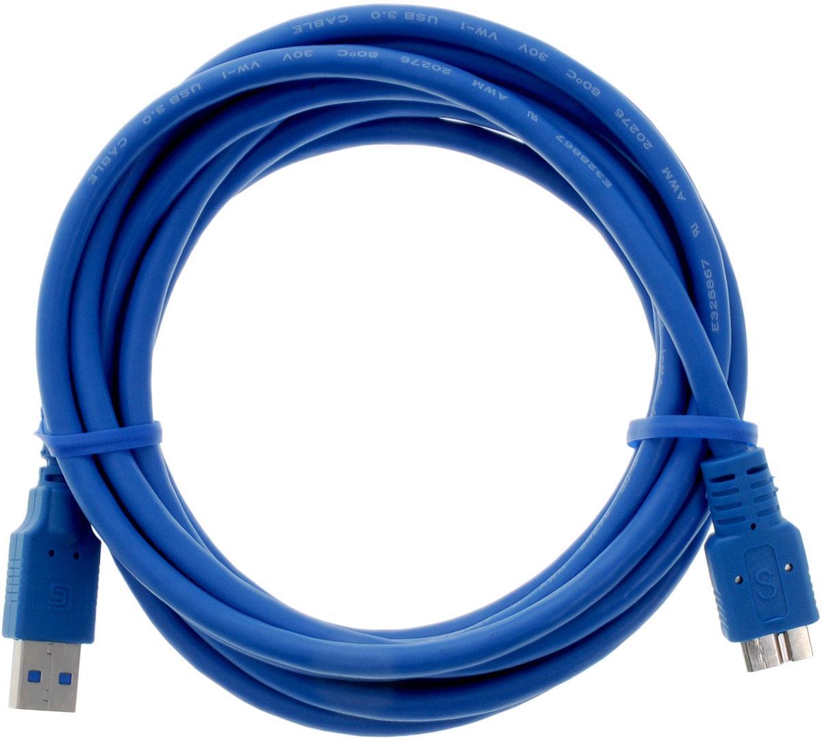 Greenconnect Premium GC-U3A03, Blue кабель microUSB 3.0-USB 3.0 (3 м)GC-U3A03-3mКабель Greenconnect Premium GC-U3A03 используется для подключения к персональному компьютеру или ноутбуку внешнего жесткого диска, Blu-Ray и другого оборудования имеющего разъем microUSB 3.0.Скорость передачи данных: до 5 ГбитОбратная совместимость с USB 2.0/1.1