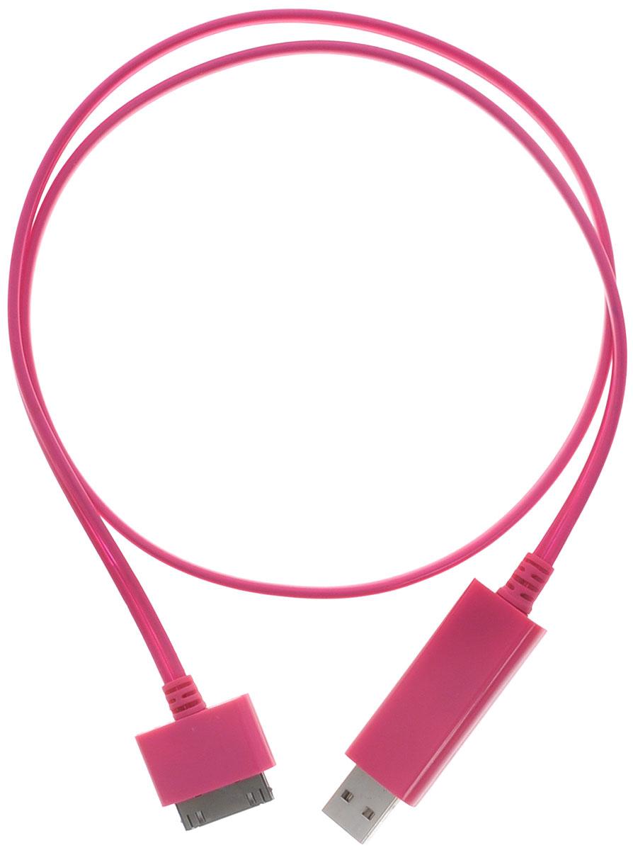 Greenconnect Premium GC-UA2MBF02, Pink кабель Apple 30 pin-USB 0.8 мGC-UA2MBF02-0.8m-pinkКабель Greenconnect Premium GC-UA2MBF02 позволяет подключать мобильные устройства, которые имеют разъем Apple 30-pin к USB разъему компьютера. Подходит для повседневных задач, таких как синхронизация данных и передача файлов, а также зарядка устройства. Работающие светодиоды на проводе отображают процесс зарядки. Прекращение работы светодиодов означает, что процесс зарядки завершен.