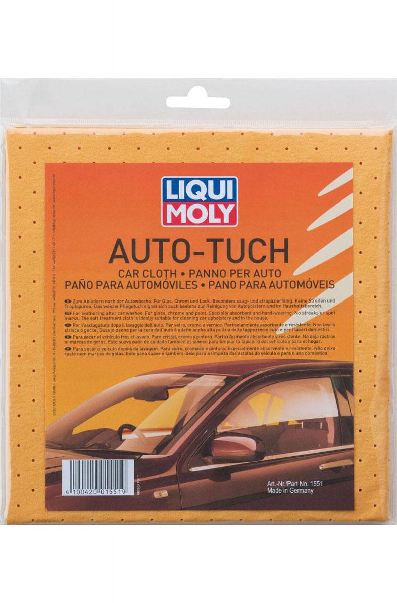 Салфетка Liqui Moly Auto-Tuch, впитывающая1551Нетканый материал имитирующий натуральную замшу, для эффективного удаления влаги с остеклённых поверхностей автомобиля после мойки.