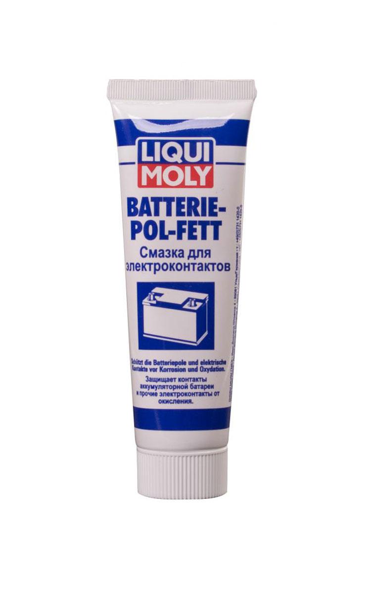 Смазка для электроконтактов Liqui Moly Batterie-Pol-Fett, 50 мл7643Смазка Liqui Moly Batterie-Pol-Fett применяется для длительной защиты клемм аккумуляторов от коррозии. Смазка предотвращает коррозию, повышая стабильность и надежность работы аккумулятора. Использование смазки снижает потери напряжения аккумулятора, продлевая срок его эксплуатации.Особенности:Оптимальные свойства для электроники.Хорошая совместимость с пластиком.Антикоррозионное действие.Предотвращает ток утечки.Снижает контактное сопротивление.