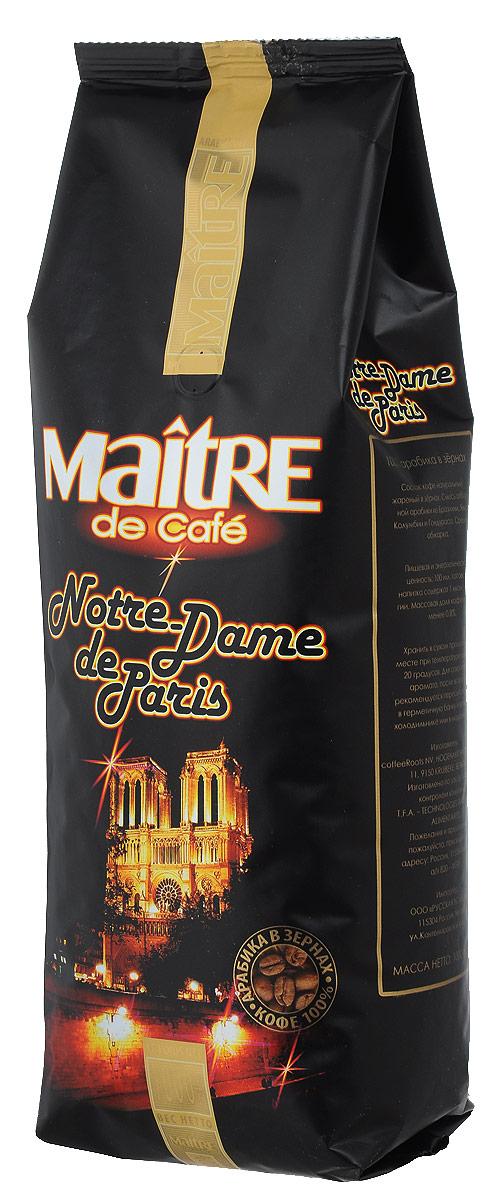 Maitre Нотр-Дам кофе в зернах, 1 кг нотр дам сборная модель с историей