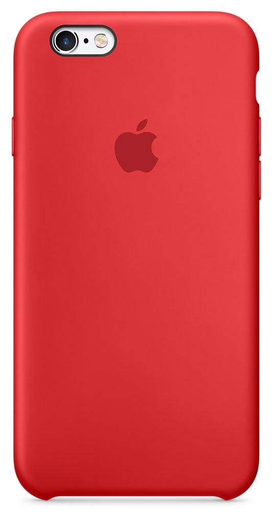 цена на Apple Silicone Case чехол для iPhone 6/6s, Red