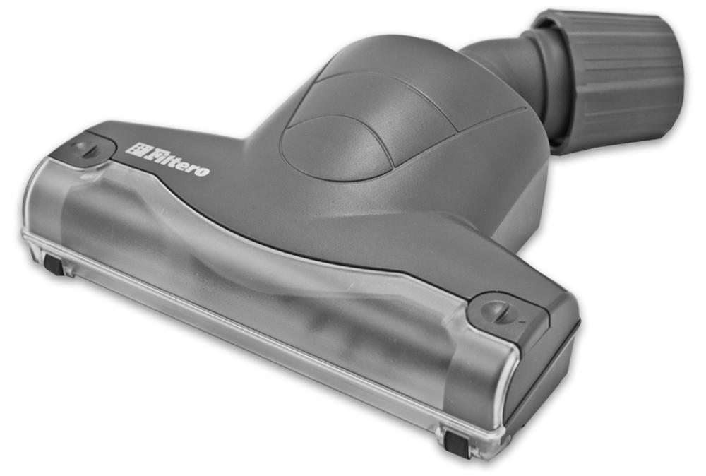 Filtero FTN 21 насадка для пылесосовFTN 21Турбо-щетка Filtero FTN 21 разработана для более эффективной уборки ковровых покрытий и мягкой мебели. Она расчесывает ворс, удаляя пыль и грязь из глубины ковра. Благодаря наличию съемного козырька обеспечивается простота чистки вращающегося вала. Эффективная конструкция турбины позволяет использовать ее с любыми, даже маломощными пылесосами. Съемная крышка снизу корпуса позволяет осуществлять очистку турбины от попавших предметов и крупного мусора.Обеспечивает возможность использования насадки с большинством пылесосов известных марок, с диаметром удлинительной трубки 30-37 мм.