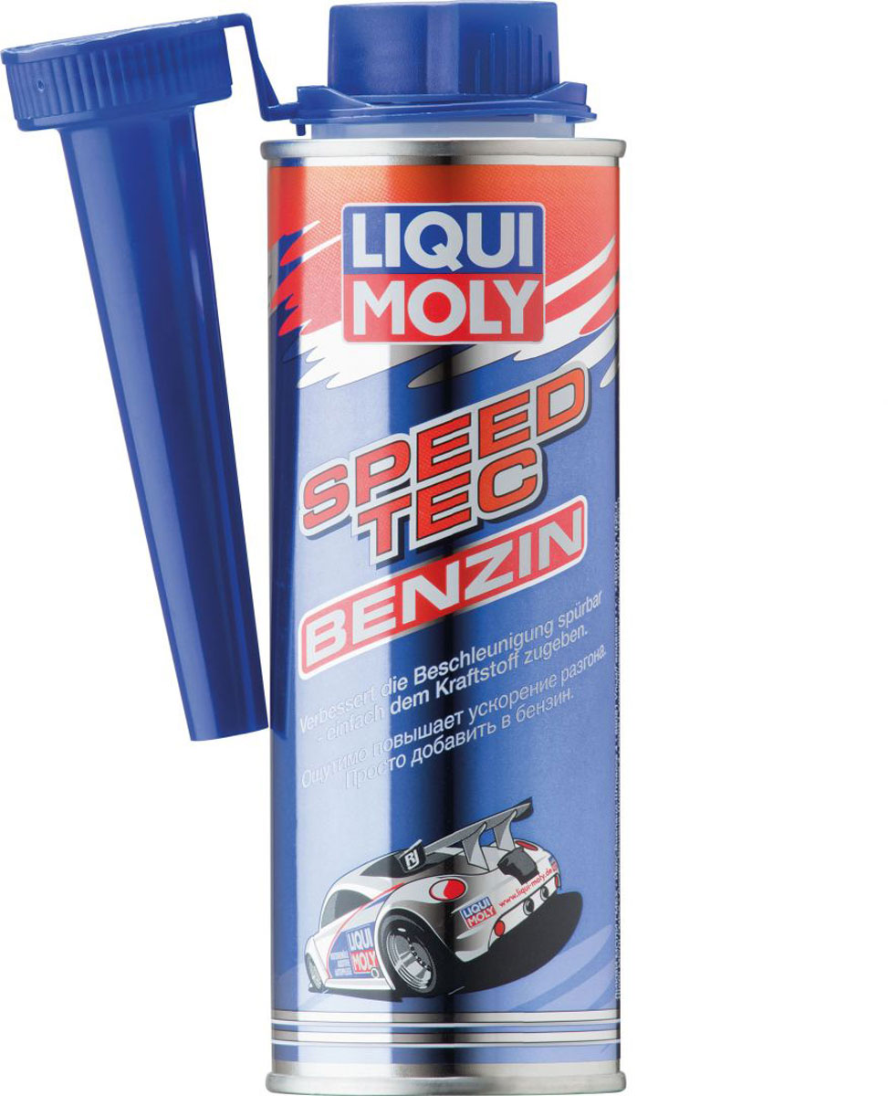 Присадка Liqui Moly Speed Tec Benzin, в бензин, 0,25 л присадка в бензин liqui moly 3040 motorbike speed additiv 0 15л