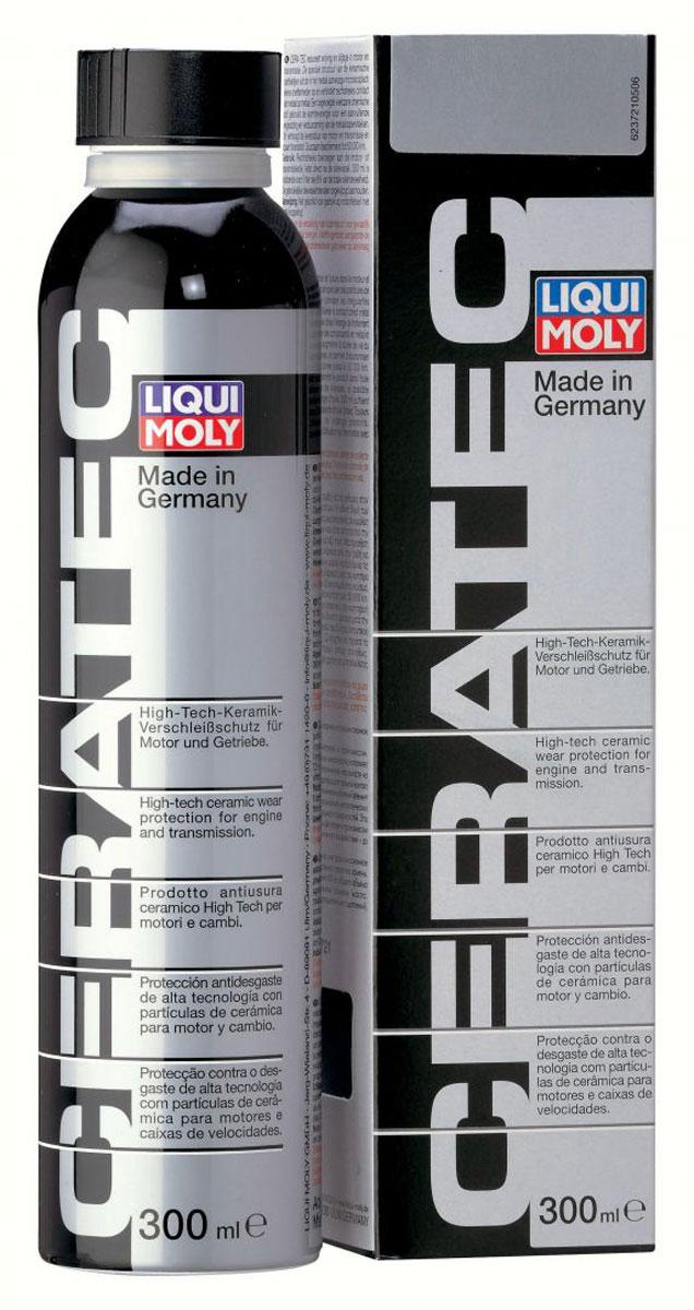Присадка антифрикционная Liqui Moly Cera Tec, в моторное и трансмиссионное масло, 0,3 л3721Антифрикционная и защитная присадка Liqui Moly Cera Tec на основе соединения молибдена с добавлением керамического компонента. Благодаря действию керамических микрочастиц в двигателе существенно снижается трение. Дополнительно присадка укрепляет стенки цилиндров и поверхности поршневых колец, защищая двигатель при жестких режимах работы. Присадка рекомендуется для всех самых современных бензиновых и дизельных автомобилей, работающих на полновязких маслах. Эффект от разового применения присадки сохраняется до 50000 км.Особенности:Смешивается со всеми имеющимися в продаже моторными маслами.Существенное снижение трения и износа за счет керамических микрочастиц.Не оседает и абсолютно свободно проходит через все широко используемые фильтровые системы.Противостоит экстремально высоким и низким температурам.Снижает потребление топлива.Продлевает срок эксплуатации мотора.Улучшает плавность хода мотора.Нитрид бора химически инертен.Не повышает содержание фосфора и серы в моторном масле.Испытано на турбированных двигателях, в системах с каталитическими нейтрализаторами и сажевым фильтром (DPF).Предотвращает повреждение двигателя в результате экстремальных обстоятельств (утечка масла, очень высокие нагрузки, перегрев).Эффект сохраняется до 50 000 км.Основа: нитрид бора+активные вещества, базовое масло.Товар сертифицирован.