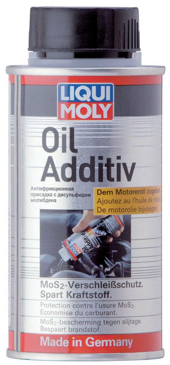 Присадка антифрикционная Liqui Moly Oil Additiv, в моторное масло, 125 мл3901Liqui Moly Oil Additiv - это фирменная антифрикционная присадка на основе дисульфида молибдена (MoS2), действие и эффективность которой проверены в течение десятилетий. Присадка рекомендуется для использования в автомобилях предыдущих поколений (бензиновых и дизельных), в системах без сажевых фильтров. Рекомендуется при каждой замене масла.Особенности:Смешивается со всеми типами моторных маселСохраняет стабильность при длительных термических и динамических нагрузках.Не образует отложений и абсолютно не влияет на фильтрующую систему двигателя, не забивает поры фильтра.Снижает износ двигателя в результате длительного пробега и высоких нагрузок.Предотвращает повреждение двигателя в результате экстремальных обстоятельств (утечка масла, очень высокие нагрузки, перегрев).Снижает расход топлива и масла.Увеличивает ресурс двигателя.Протестировано на турбированных двигателях и катализаторах.Легко выводится из системы с заменой масла.Основа: суспензия MoS2.Товар сертифицирован.