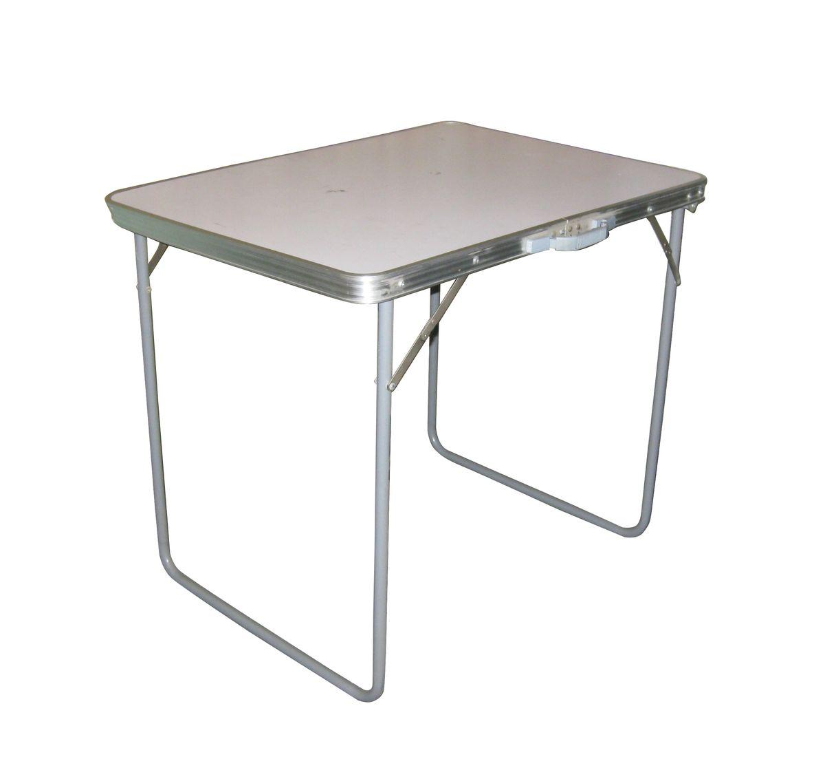 Стол складной Reka, цвет: белыйPT-021Складной стол для пикника Reka очень легкий и удобный для похода, кемпинга и дачи. Он выполнен из алюминия и МДФ.Весит всего 3,5 кг.Размер: 80 x 60 x 70 см.